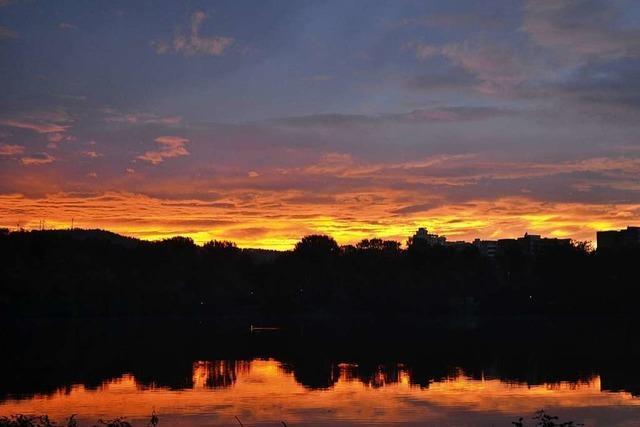 Sonnenaufgang am Moosweiher