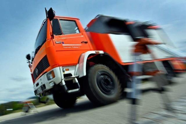 Freiburger Feuerwehr im Dauerstress: Am Mittwoch gab's fünf Einsätze gleichzeitig