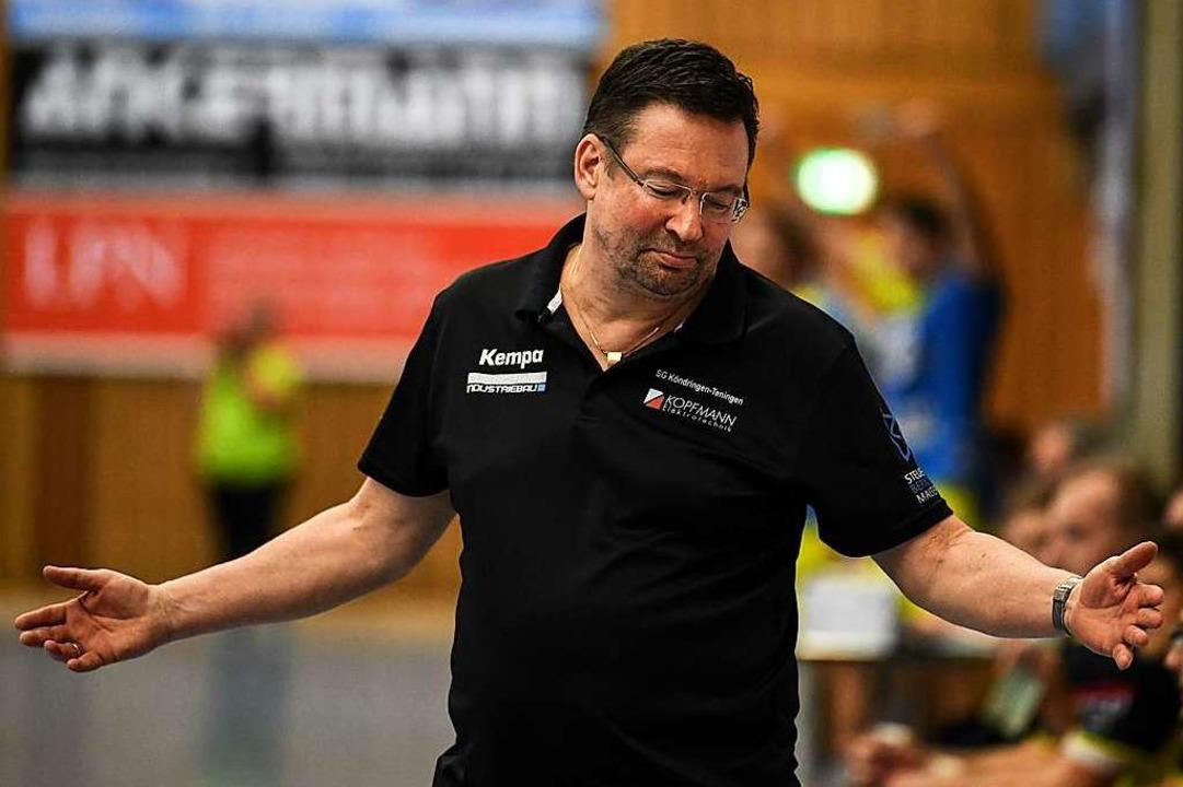 Seine Zeit bei der SG Köndringen-Tenin...Vereinsleitung ab sofort freigestellt.  | Foto: Patrick Seeger