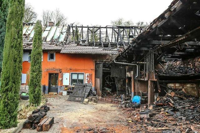 Vierköpfige Familie hat nach dem Brand in Altdorf ihr Heim verloren