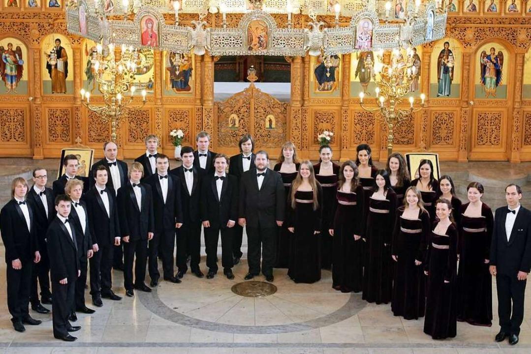 Zieht das Publikum in seinen Bann: der Moskauer Kathedralchor  | Foto: Hilda Lobinger (Copyright)