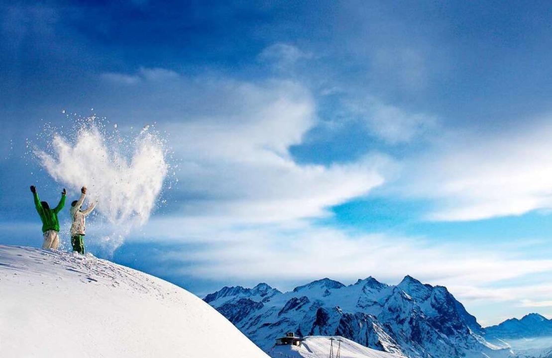 Schneefreuden in den Schweizer Alpen   | Foto: Haslital Tourismus