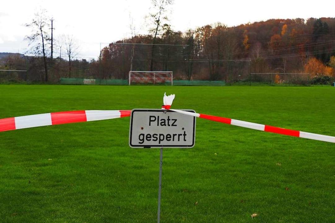 Aus dem Rasenspielfeld sollen zwei Sportflächen werden.  | Foto: Herbert Frey