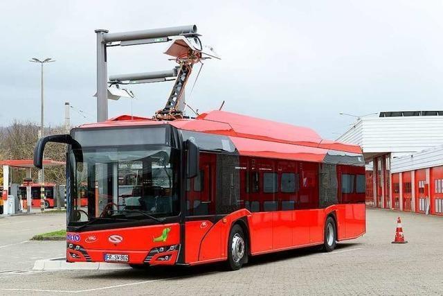 Freiburgs erste Elektrobusse sind jetzt auf der Straße