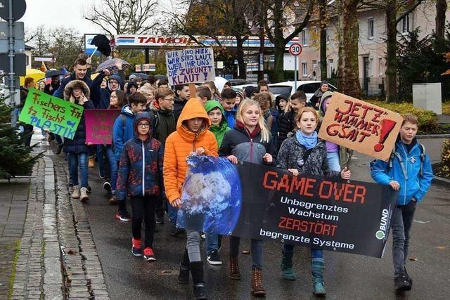 Über 130 Teilnehmer bei erster Klima-Demo in Breisach