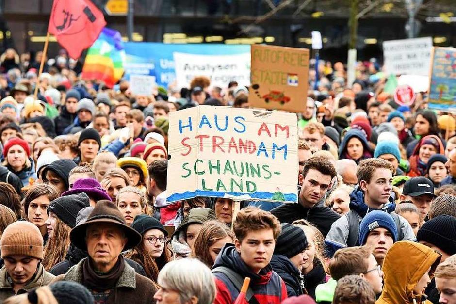 Fridays for Future in Freiburg: zum sechsten Mal wird im großen Stil in Freiburg demonstriert. (Foto: Rita Eggstein)