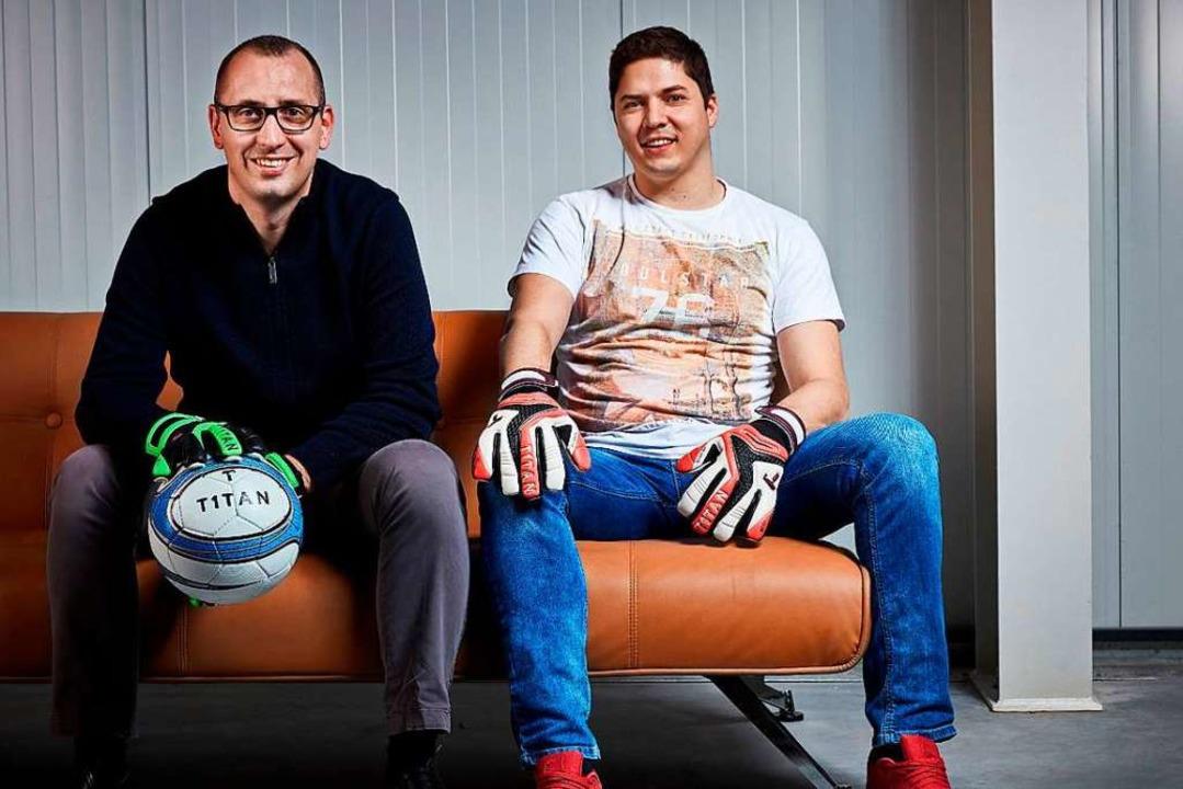 Die beiden Gründer von T1tan Manuel Meier (links) und Matthias Leibitz.  | Foto: Promo