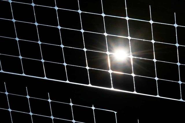 Die Gesamtleistung an Sonnenenergie in Weil am Rhein ist schon sehr gut