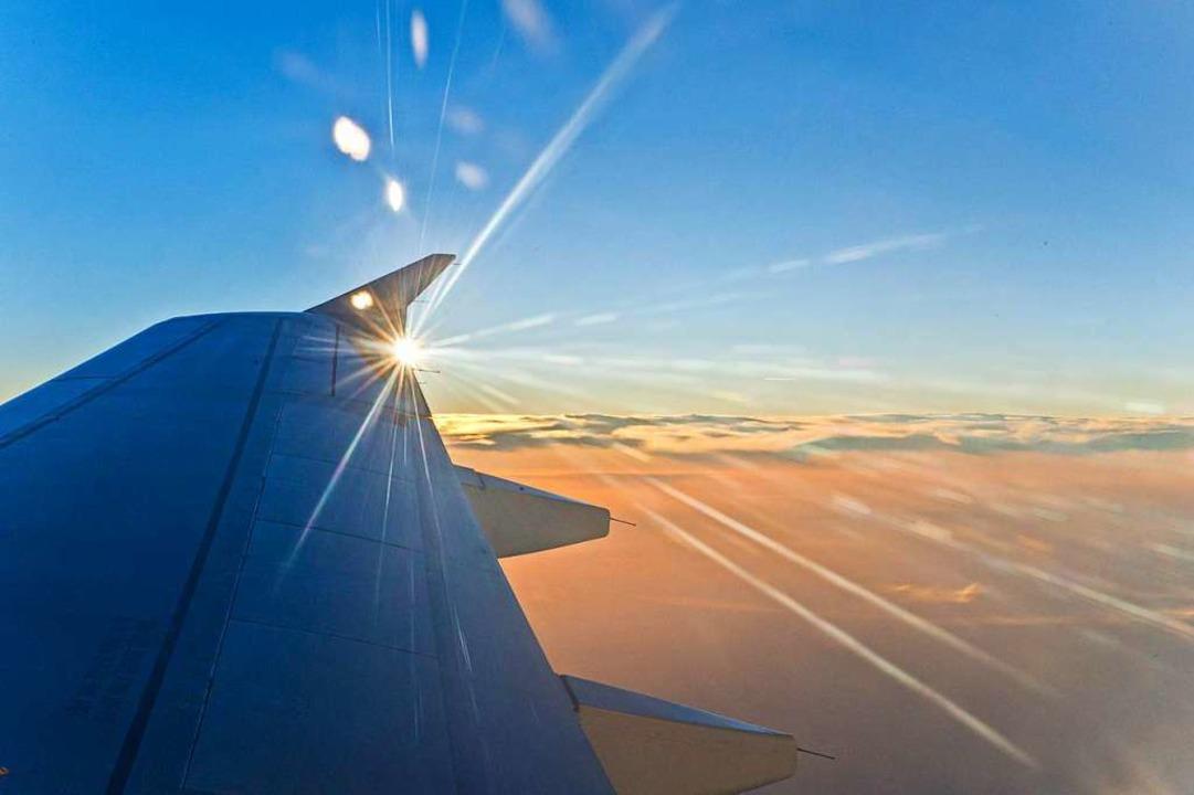 Fliegen ist praktisch und schön – aber schlecht fürs Klima.    Foto: Andrea Schiffner