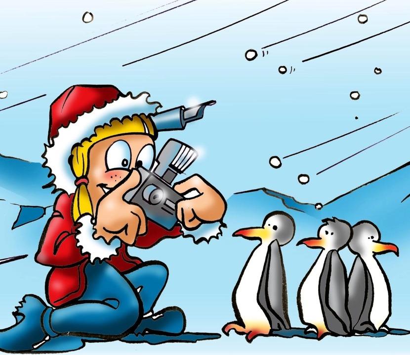 Auch Betti Z. ist in die Antarktis ger...inen Artikel über Pinguine  schreiben.  | Foto: Ferdinando Terelle