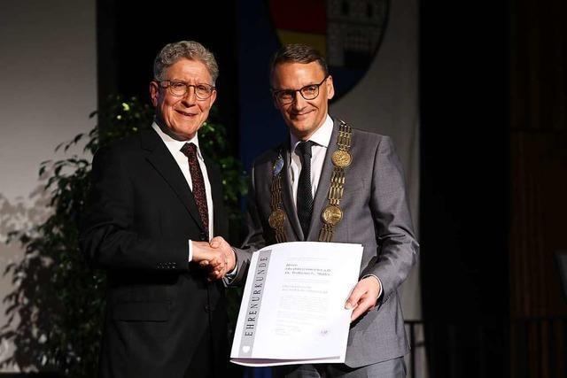Lahrs ehemaliger Oberbürgermeister Wolfgang G. Müller ist jetzt Ehrenbürger