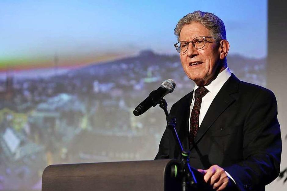 Der neue Ehrenbürger Wolfgang G. Müller (Foto: Christoph Breithaupt)