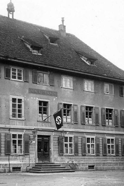Seit 1933 war das Säckinger Rathaus in...t zur Schalt- und Nachrichtenzentrale.  | Foto: Stadtarchiv Bad Säckingen