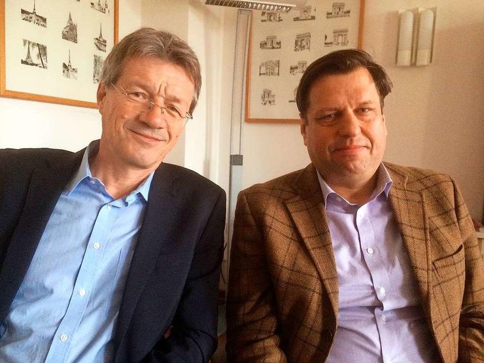 Daniel Jacob (links), Vorsitzender des...nd Vorstandsmitglied Jürgen Dendorfer.  | Foto: Annemarie Rösch