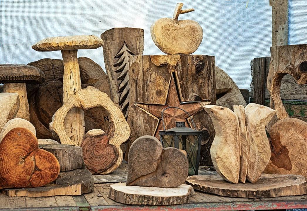 In Schallstadt konnte man kreative Kun...s verschiedenen Holzsorten  bewundern.  | Foto: Hubert Gemmert