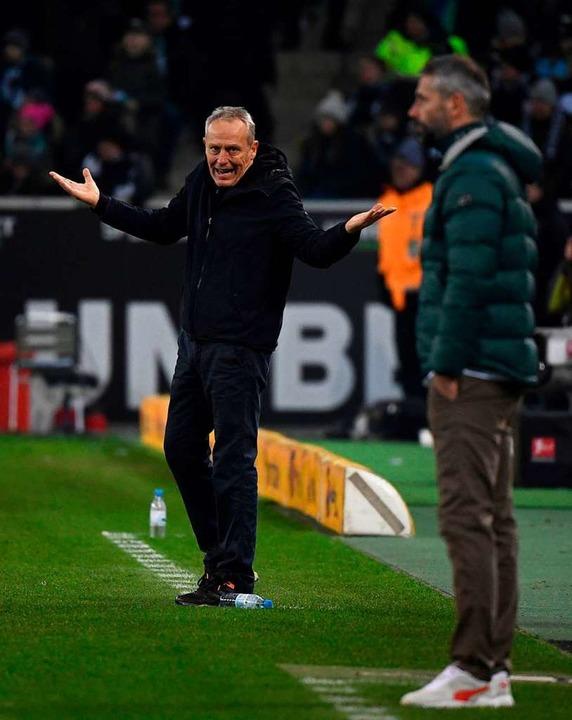SC-Coach Christian Streich.  | Foto: INA FASSBENDER (AFP)