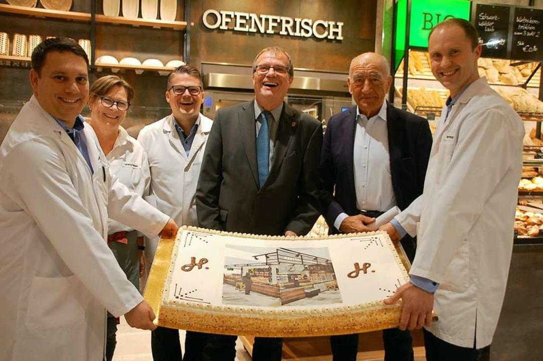 Freuen sich über die Erweiterung (von ...dt, Jörg Hieber und Daniel Prandzioch   | Foto: Petra Wunderle