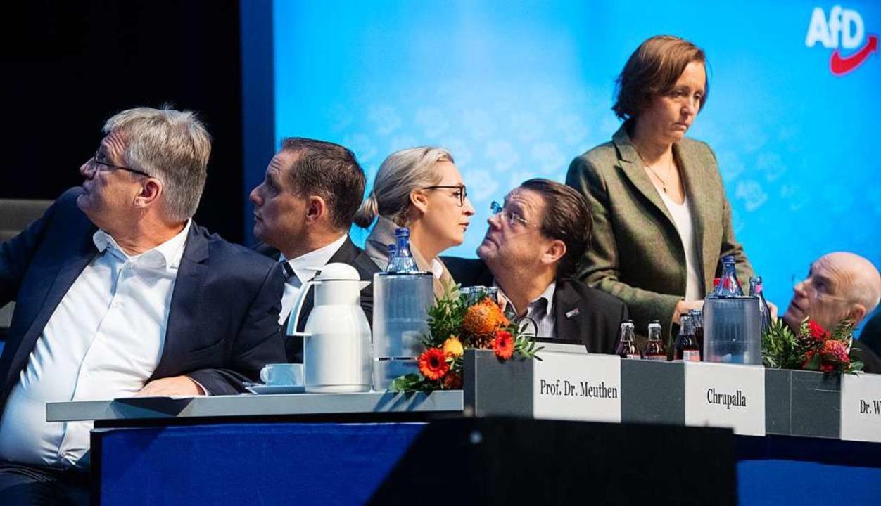 Wohin geht die AfD? Darüber debattiere...ephan Brandner und Beatrix von Storch.  | Foto: Julian Stratenschulte (dpa)