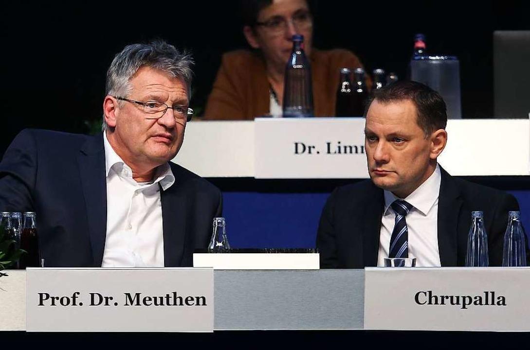 Die neue AfD-Spitze: der alte und neue... und Gauland-Nachfolger Tino Chrupalla  | Foto: RONNY HARTMANN (AFP)
