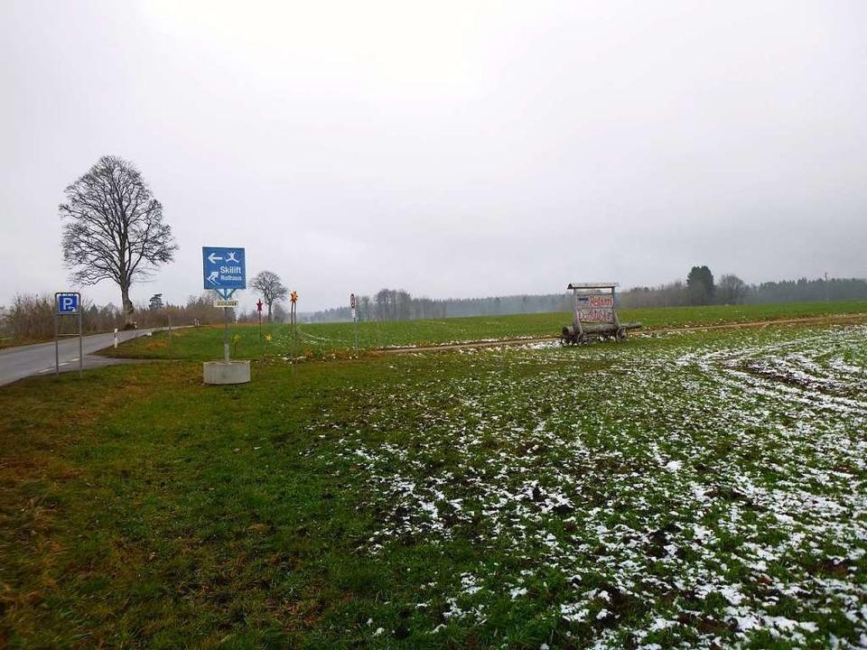 Dieses Hinweisschild zum Skilift, wie ... Dies hat das Landratsamt gefordert.    | Foto: gemeinde grafenhausen