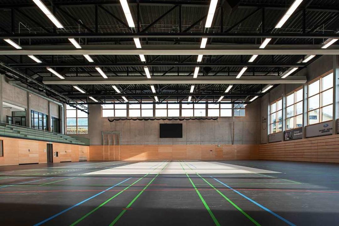Finanz- und Sportbürgermeister Stefan ...ndigkeit die Halle verwirklicht wurde.  | Foto: Freiburger Turnerschaft