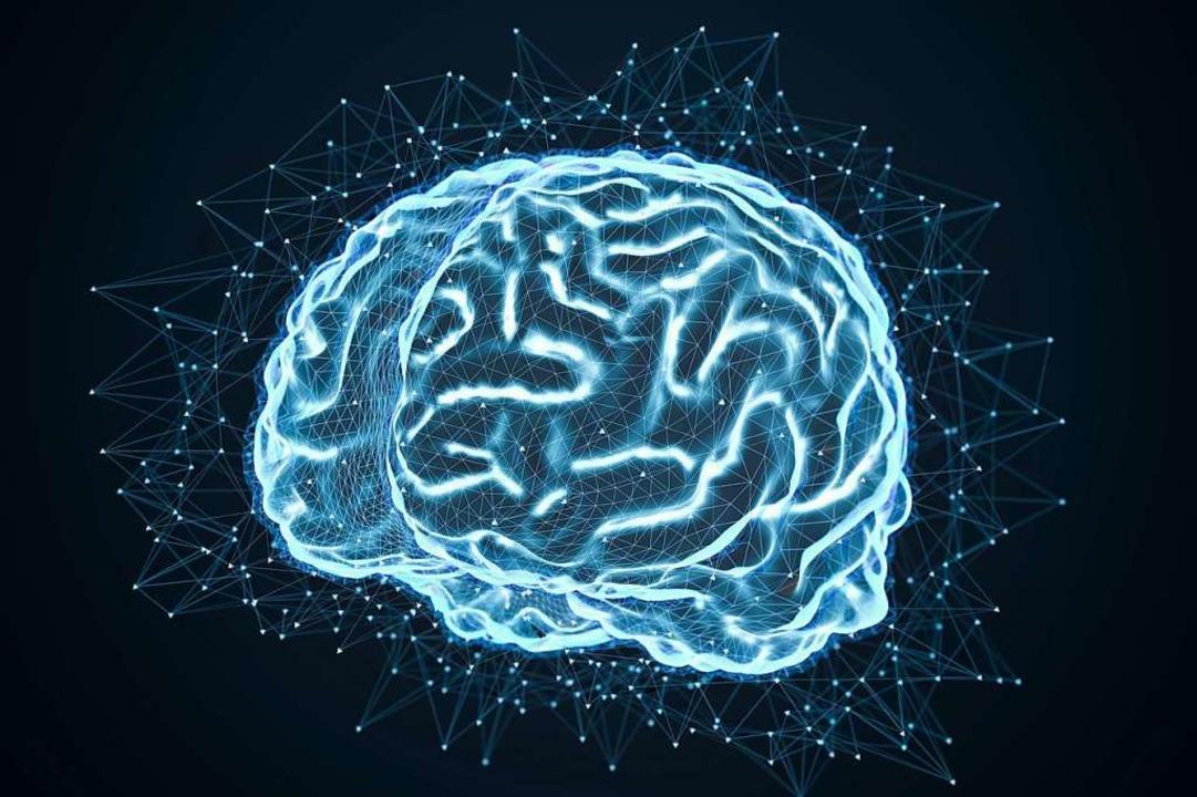 Unser Gehirn in einer futuristischen D...in künstliches Gehirn aussehen könnte.  | Foto: fotomek - stock.adobe.com