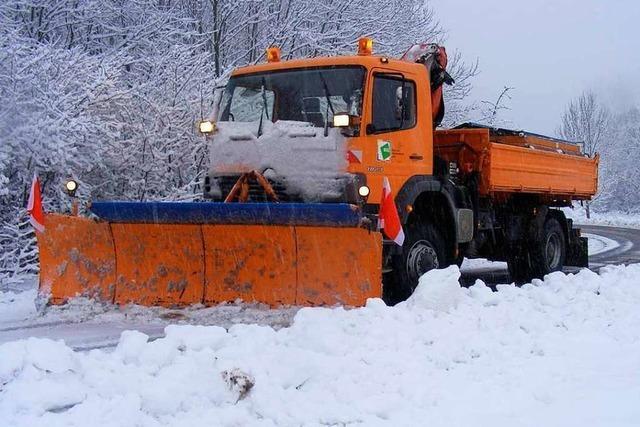Der Winterdienst im Kreis Lörrach ist bereit für Schnee und Eis