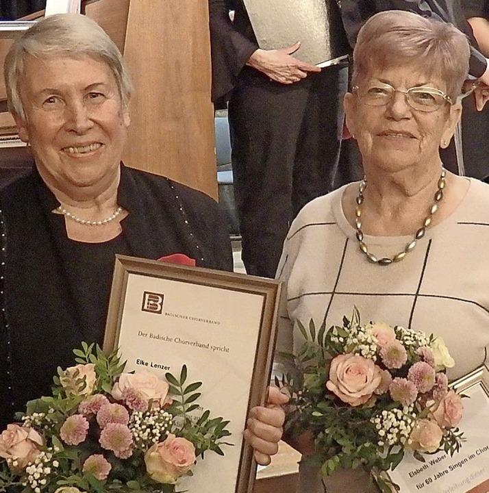 Elke Lenzer (l.) und Elsbeth Weber  | Foto: Bianca Flier