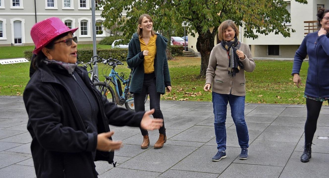 In der Woche der Gesundheit des St. Jo...iter in den Pausen Bewegung mit Musik.    Foto: Danielle Hirschberger