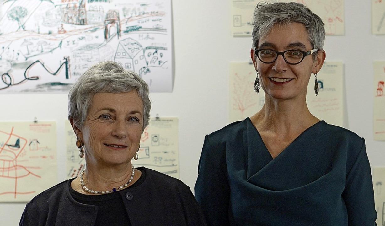 Martine Chantrel (links) und Florence Dancoisne   | Foto: Ingo Schneider