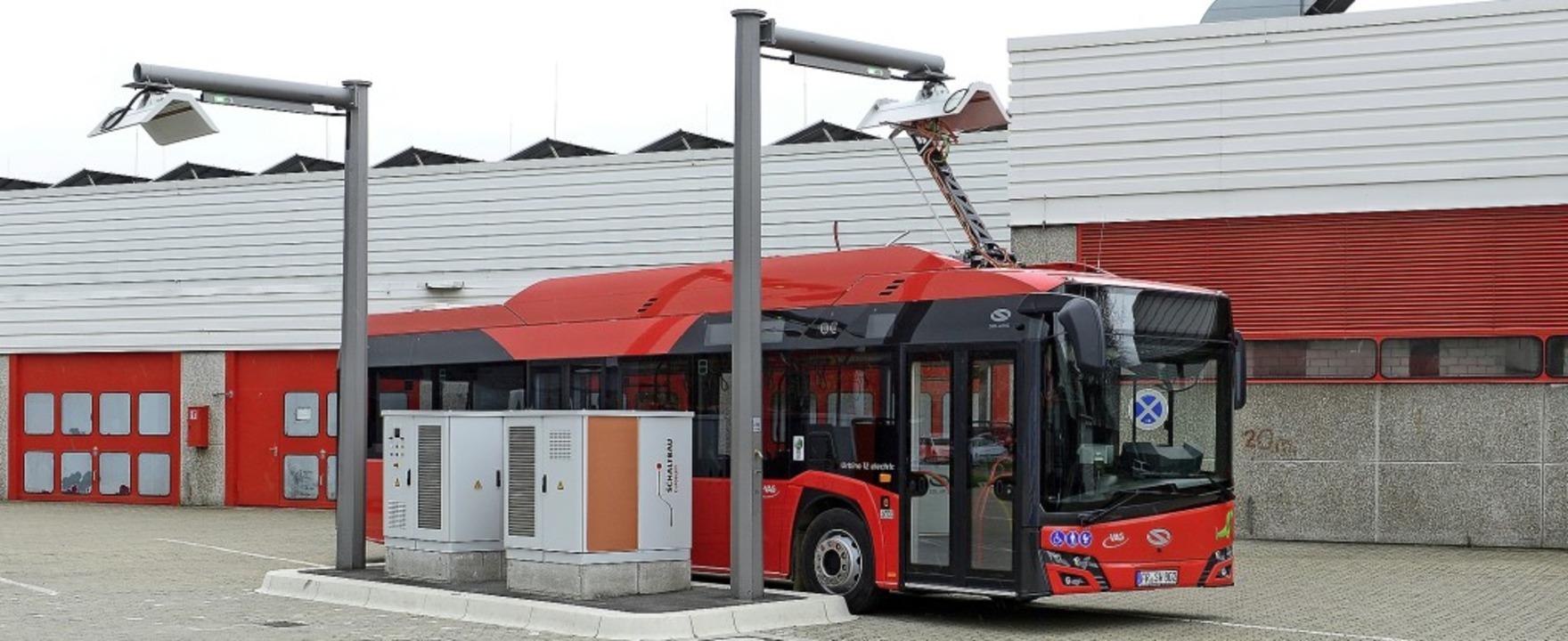Jeder neue Elektrobus der VAG produzie...ief>2</BZ-Texttief> und weniger Lärm.   | Foto: Ingo Schneider
