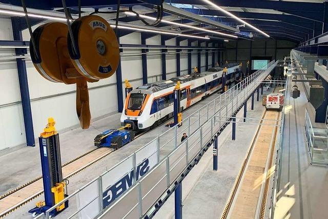 SWEG weiht neue E-Lokwerkstatt ein – doch die E-Loks fehlen noch