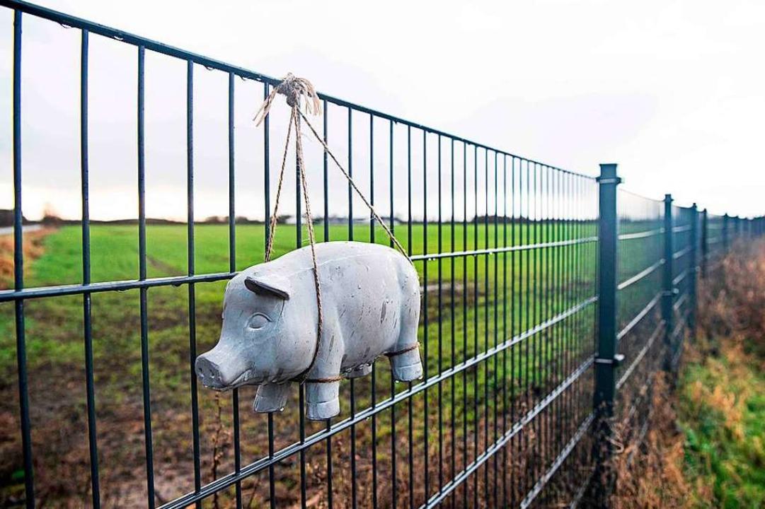 Das umstrittene Bauwerk ist nach zehn Monaten fertiggestellt worden.  | Foto: CLAUS FISKER (AFP)