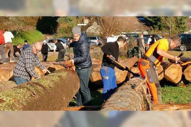 Zum Dorfjubiläum bekommt Sulz ein Blockhaus