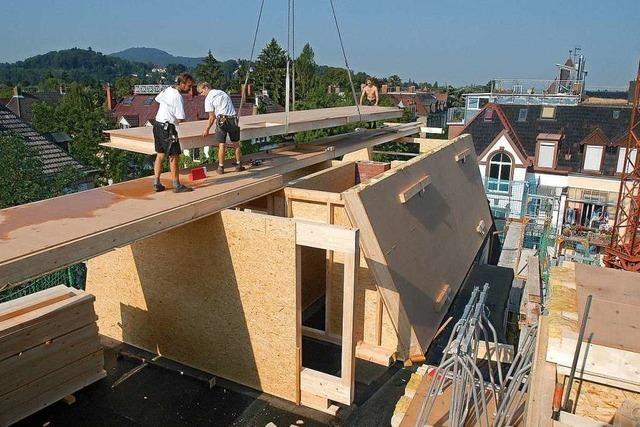 In Freiburg lassen sich maximal 3200 Wohnungen durch den Ausbau von Dächern schaffen
