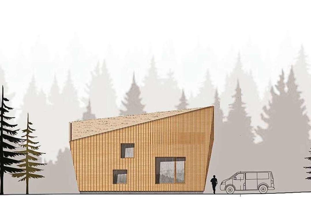 So sieht das Gebäude vom Winterhaldenweg gesehen aus.   | Foto: Architekturbüro Sennrich und Schneider, Breisach