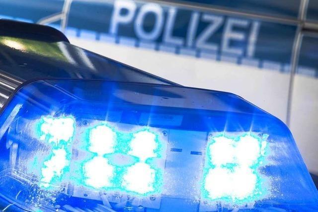 Betrunkener 62-Jähriger fährt ein Straßenschild bei Gengenbach um