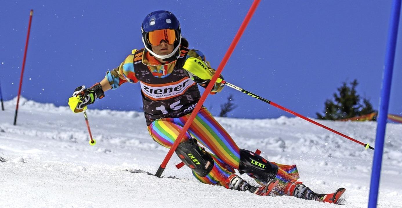 Ronja Wiesel vom SC Münstertal bewies ...mit Rang 13 eindrucksvoll ihr Talent.     Foto: Martin Siegmund