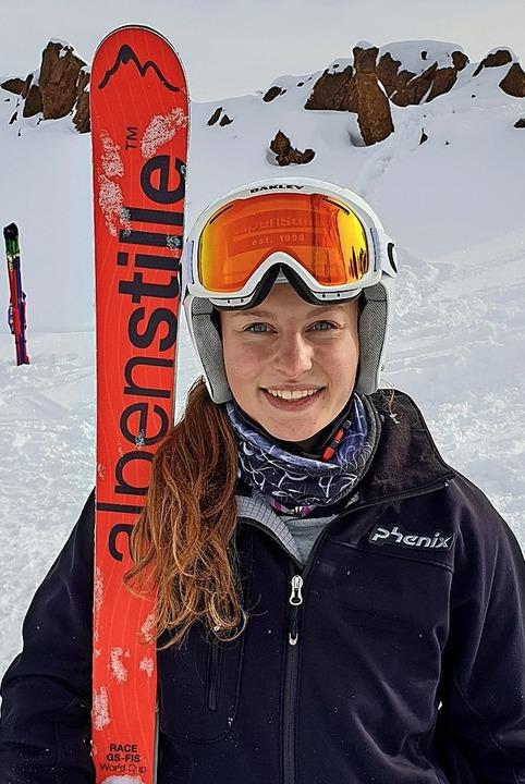 Souveräner Sieg zum Saisonauftakt: Tan... erste Riesenslalomrennen des Winters.    Foto: Martin Siegmund