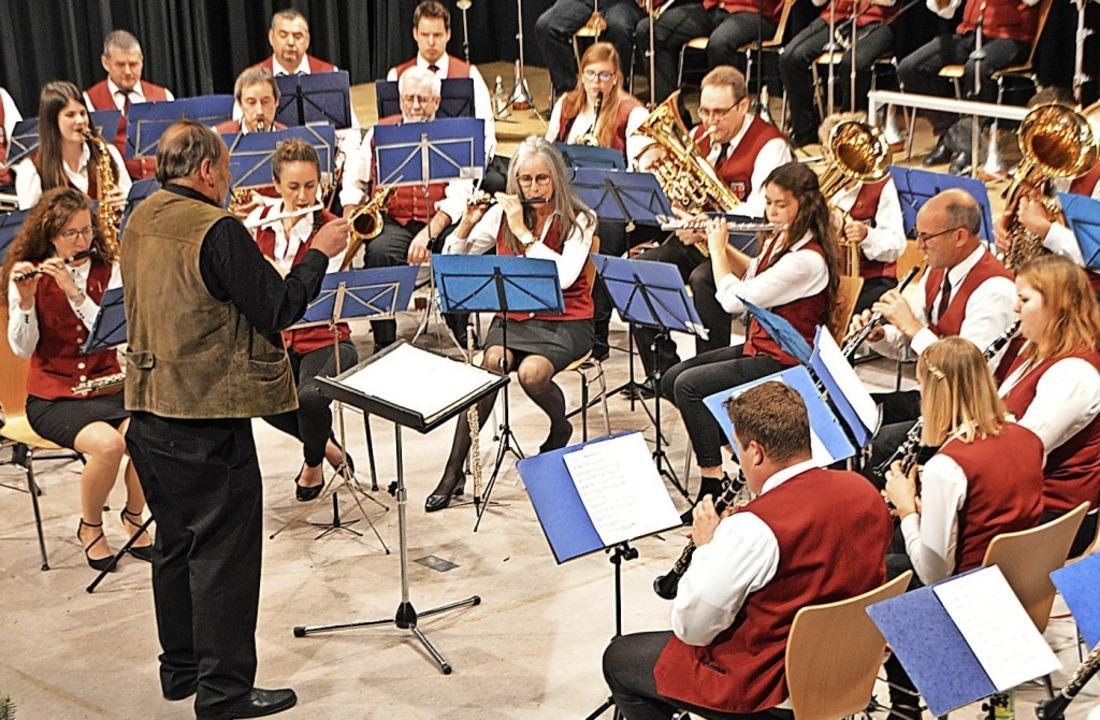 Musikverein Wittental bei seinem Auftritt in der Kageneckhalle  | Foto: Horatio Gollin