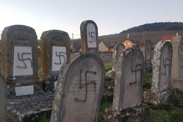 Unbekannte schänden mehr als 100 jüdische Gräber im Elsass