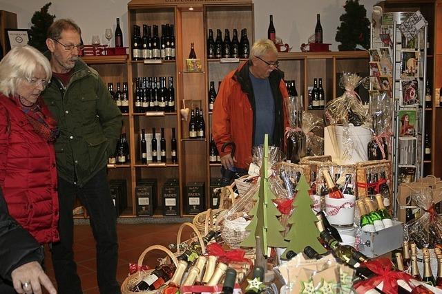 Winzer in Weihnachtsstimmung