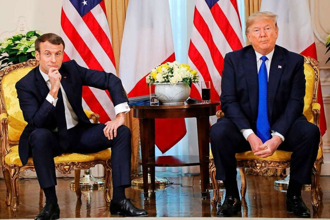 Beim Treffen des französischen Präside...ump wurden Differenzen offensichtlich.  | Foto: LUDOVIC MARIN (AFP)