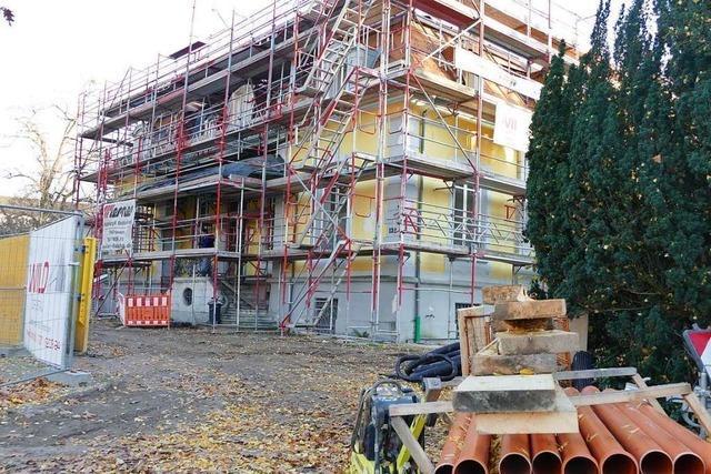 Die Sanierung der Villa Aichele in Lörrach macht gute Fortschritte