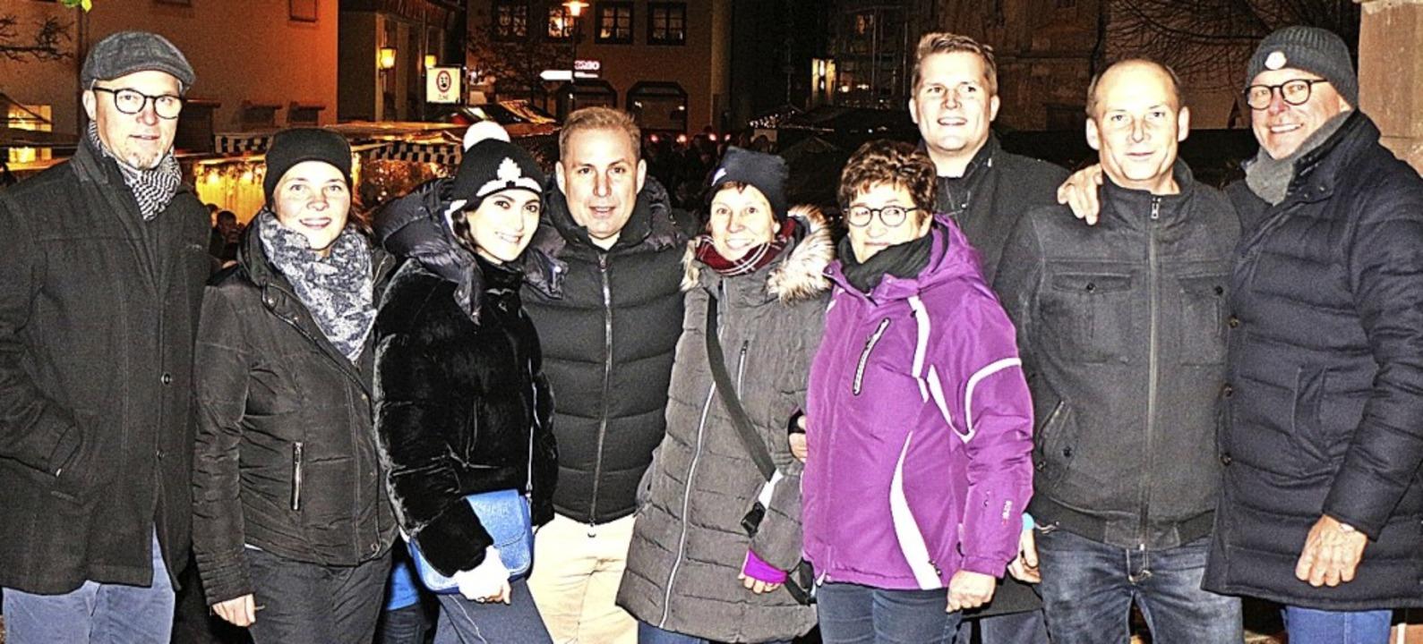 Das Orga-Team des Riegeler Weihnachtsm...gelungenen Neustart in der Ortsmitte.     Foto: Helmut Hassler