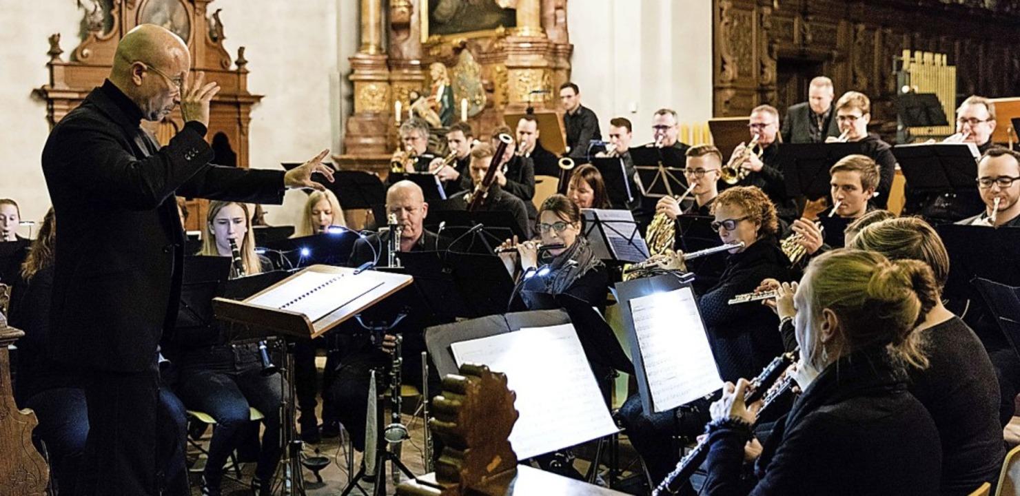 Die Stadtmusik beeindruckte beim Konzert in St. Margarethen.   | Foto: Gabriele Zahn