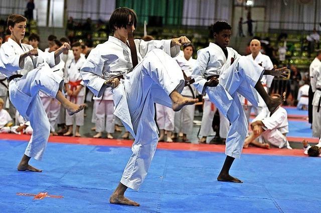 Kampfsportler mit Hand und Fuß