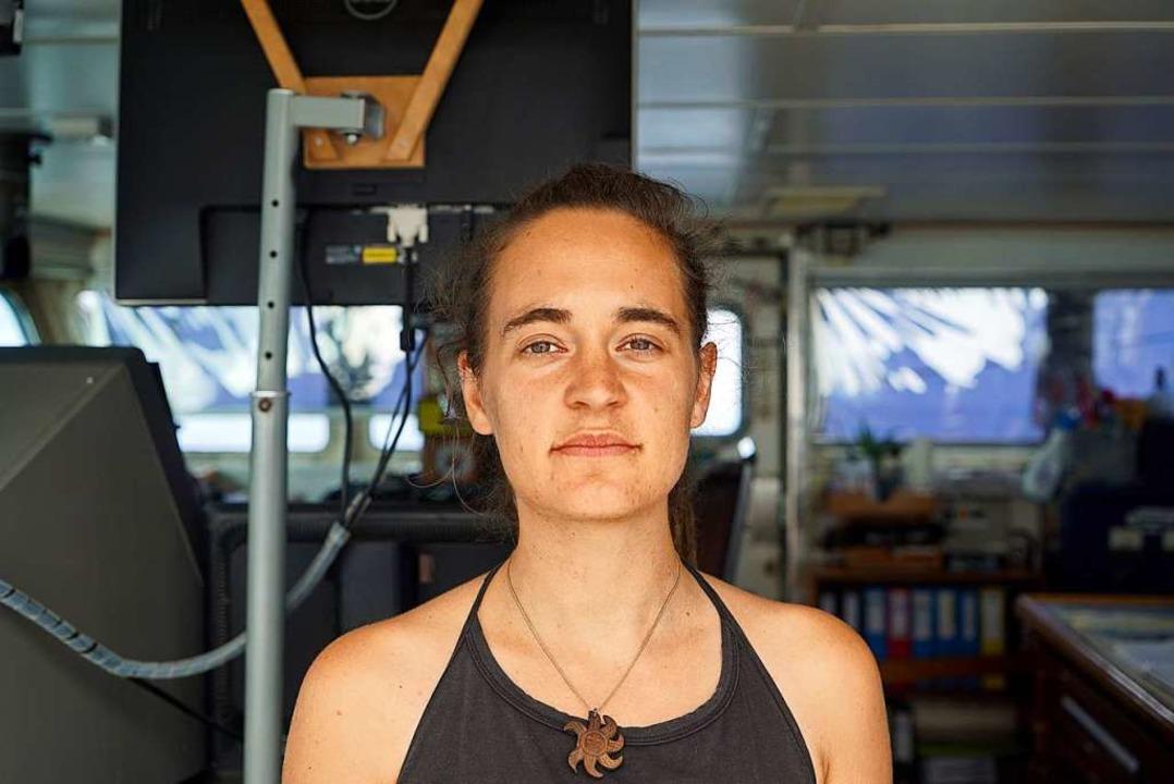Carola Rackete im Juni 2019 an Bord der Sea-Watch 3  | Foto: Till M. Egen (dpa)