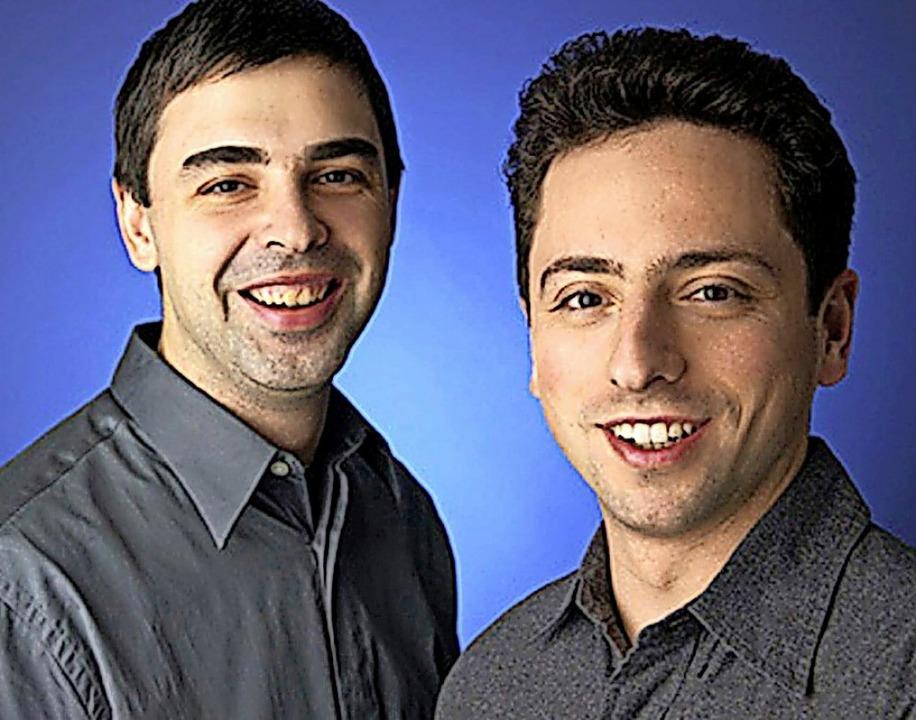 Da waren sie noch jung – Larry P...nd Sergey Brin (rechts) im Jahr 2004.     Foto: -