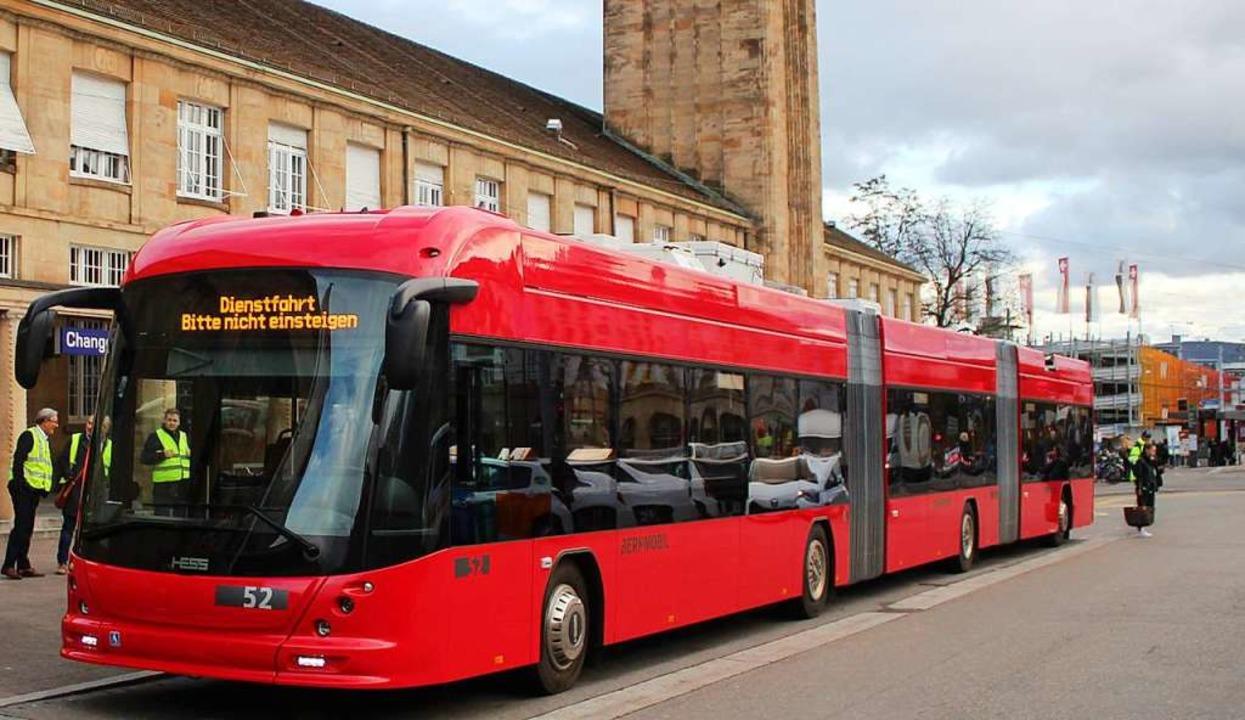 Mit 25 Metern Länge ist der  Doppelgel...t sehr hohem Fahrgastaufkommen eignet.  | Foto: Rolf Reißmann